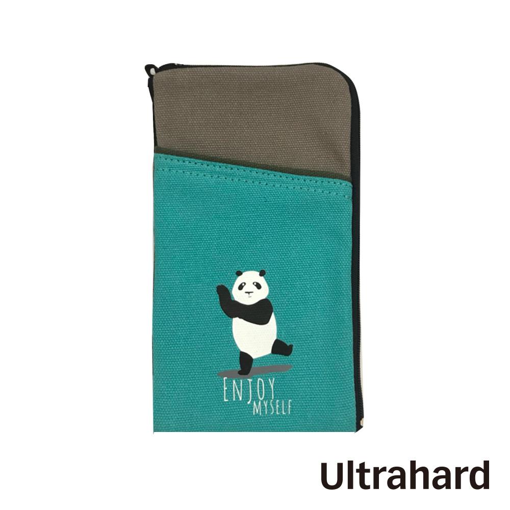 Ultrahard 竹林七閒手機袋- 熊貓(灰綠)