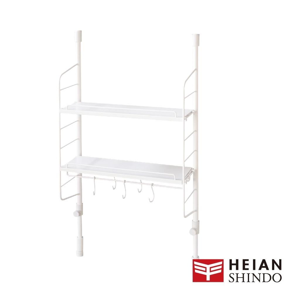 日本【平安伸銅 】SPLUCE免工具廚房收納吊掛層架(M)組合SPL-2(超薄寬版)