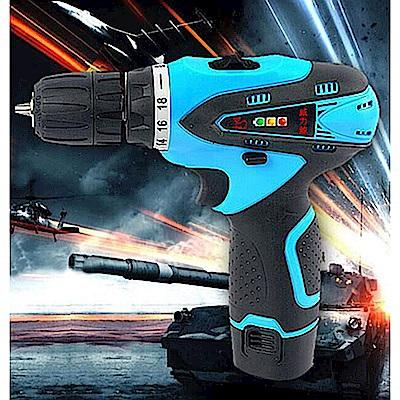 威力鯨車神 16.8V雙速充電式鋰電池電鑽組_37件豪華大全配(加贈打蠟拋光工具組)