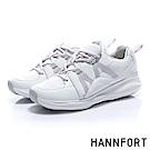 HANNFORT BUBBLES M織帶厚底跑鞋-女-混搭白