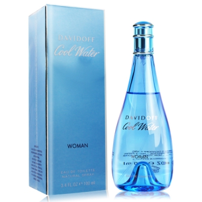 Davidoff 冷泉女性淡香水 Cool Water Woman 100ml EDT-國際航空版