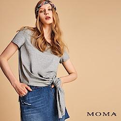MOMA 腰間綁帶素面上衣