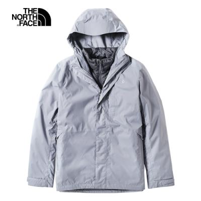 The North Face北面男款灰色防水保暖戶外三合一外套 3L8OFNU
