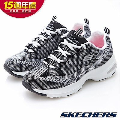 SKECHERS 女休閒 潮流老爹鞋 D LITE ULTRA - 12283BKW