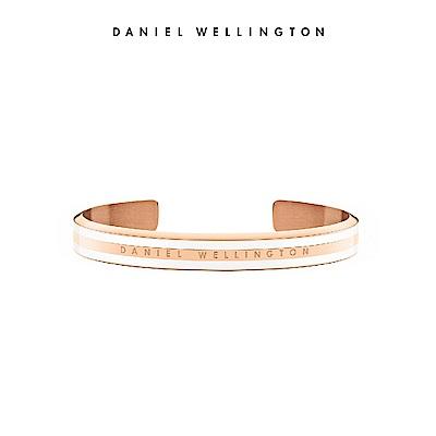 DW 手環 Classic Bracelet 時尚奢華手鐲 玫瑰金x白-S