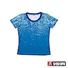 SASAKI 長效性吸濕排汗功能圓領短衫-女-法瓷藍/亮藍