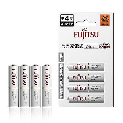 Fujitsu 低自放4號 750mAh 鎳氫充電電池(4顆入)