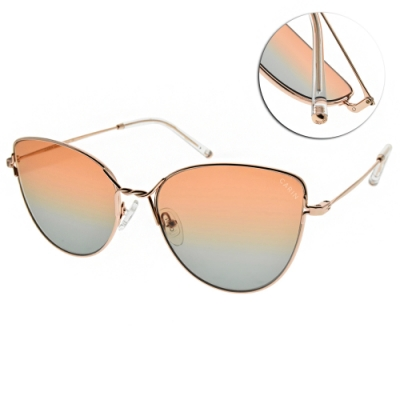 CARIN 太陽眼鏡  復古貓眼漸層款/玫瑰金-澄藍鏡片#NIGHT C1