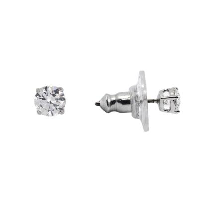 SWAROVSKI 施華洛世奇 ATTRACT簡約圓形水晶銀色耳環