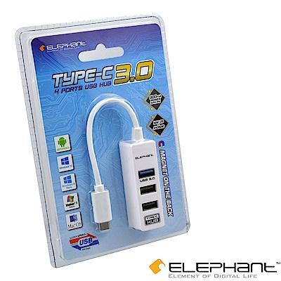 ELEPHANT TYPE-C四埠USB3.0HUB(WEH-1006W)