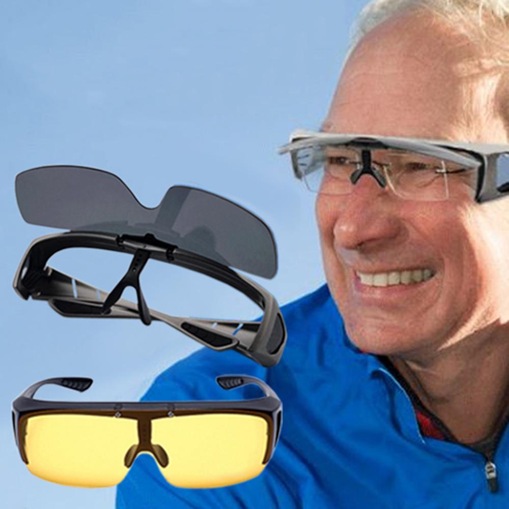 EHD 外掛式可翻蓋近視可戴UV400偏光太陽眼鏡台製BSMI認證(3色任選)
