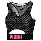 PUMA-女性Barbie短版上衣-黑色-歐規