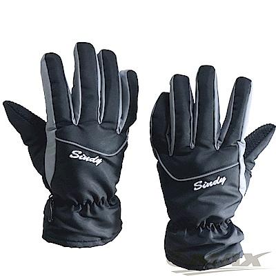 OMAX防風防水止滑手套-男款-黑色-快