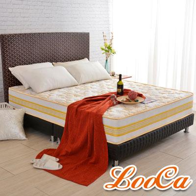 LooCa 護背加強護框硬式獨立筒床墊 單人3.5尺
