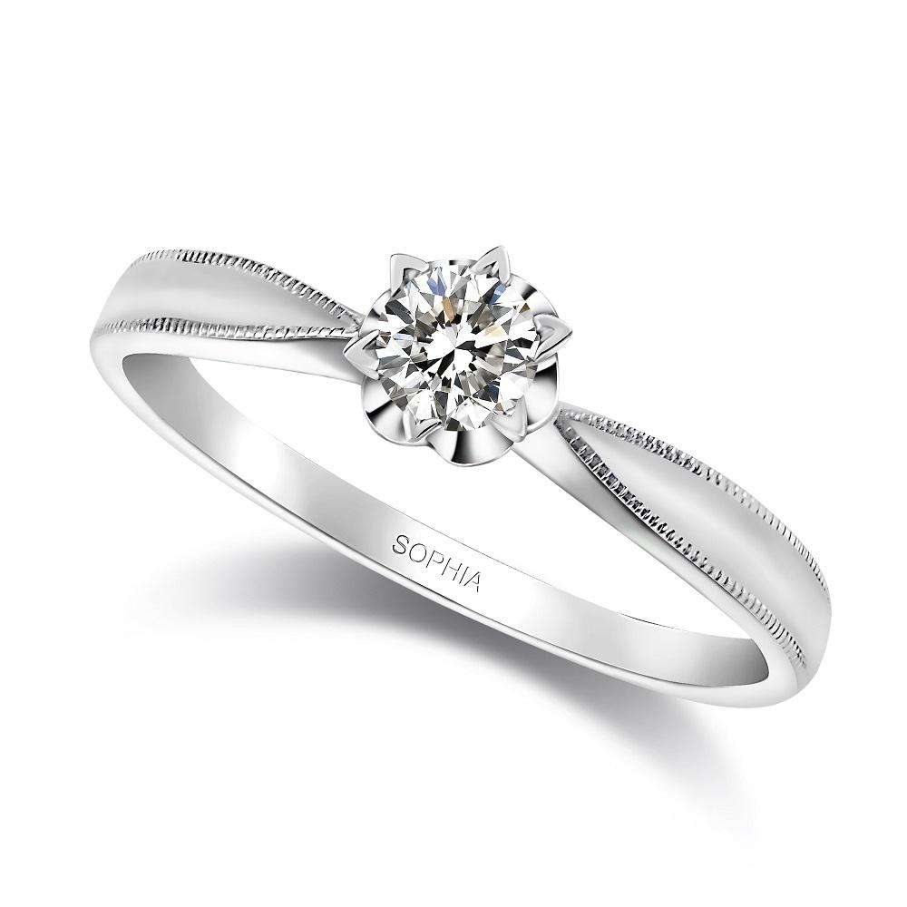SOPHIA 蘇菲亞珠寶 - 瑪格麗特 0.30克拉 18K白金 鑽石戒指