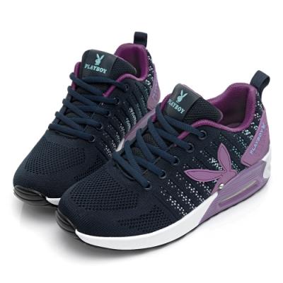 PLAYBOY Fashion focus輕盈氣墊休閒鞋-藍紫-Y7239FA