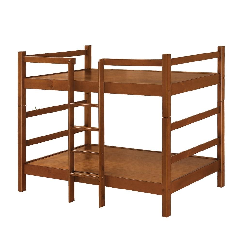 綠活居 曼丹  現代3.5尺實木單人雙層床台組合-113x201x160cm免組