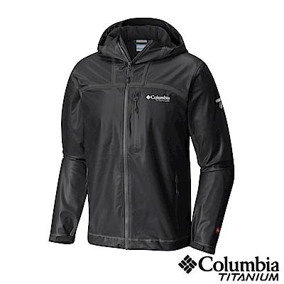 Columbia 哥倫比亞 男-鈦Outdry防水彈性外套-黑色 UWE11960