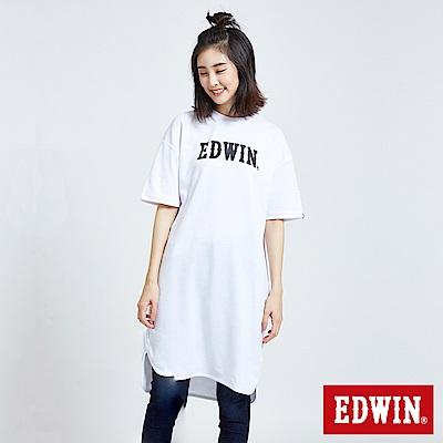 東京系列3M反光印花長版短袖T恤-女-白色