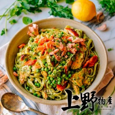 上野物產-亞德里奶青醬鮭魚義大利麵 x12包(麵體+醬料包 300g土10%/包)