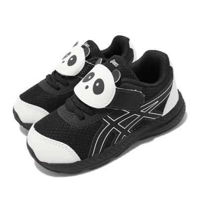 Asics 慢跑鞋 Contend 7 School Yard 童鞋 亞瑟士 魔鬼氈 熊貓 小童 黑 白 1014A202002