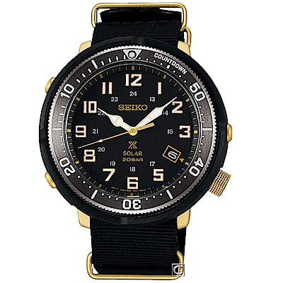 SEIKO精工PROSPEX 復古太陽能限量腕錶(SBDJ028J)