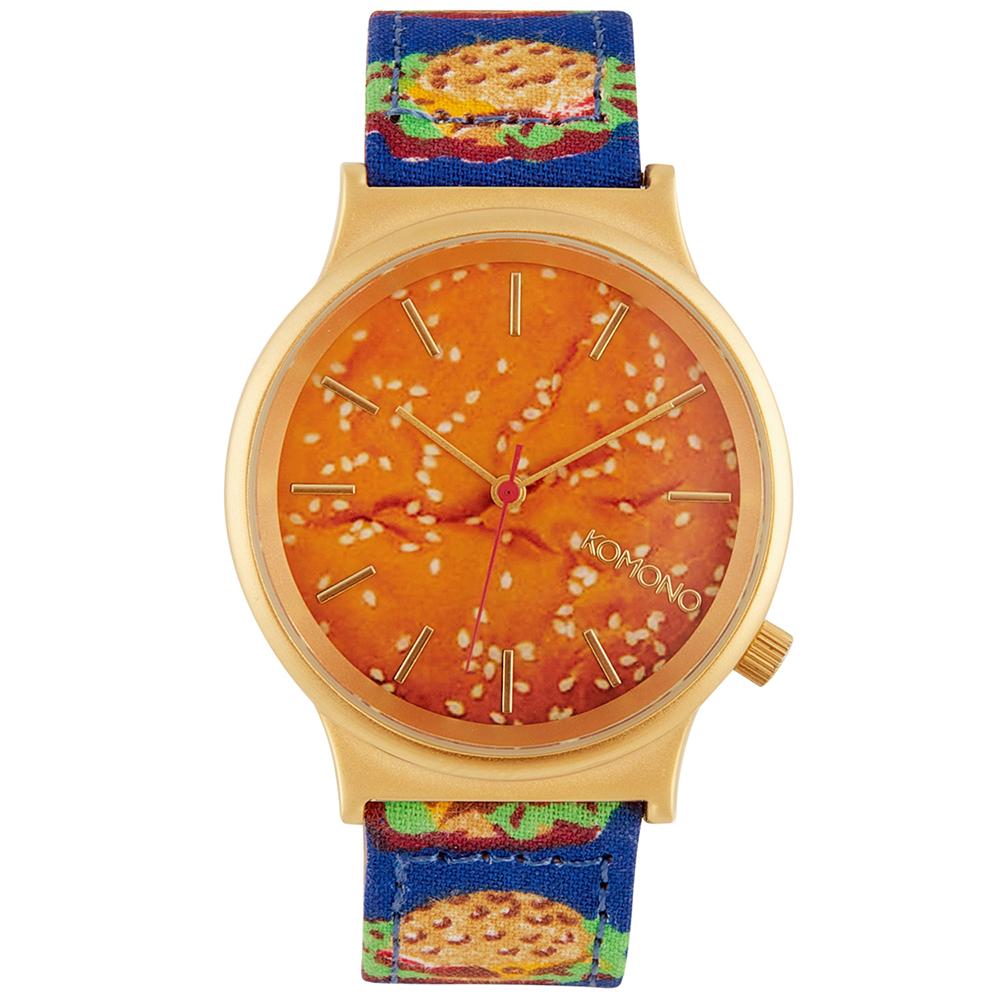 KOMONO Wizard Print 腕錶-漢堡時光/37mm