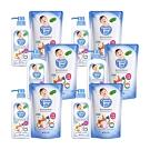 雪芙蘭親貝比 - 嬰幼兒奶瓶清潔劑(奶蔬洗潔液) 6罐700ml + 6補充包600ml