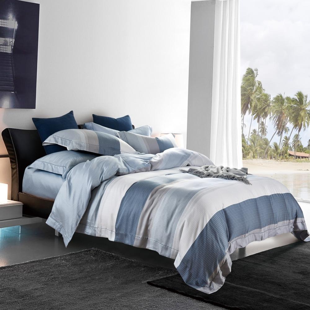 (限時下殺)La Lune 100%純天絲被套床包組 單/雙/大 均一價 (沙灘上的漫步)