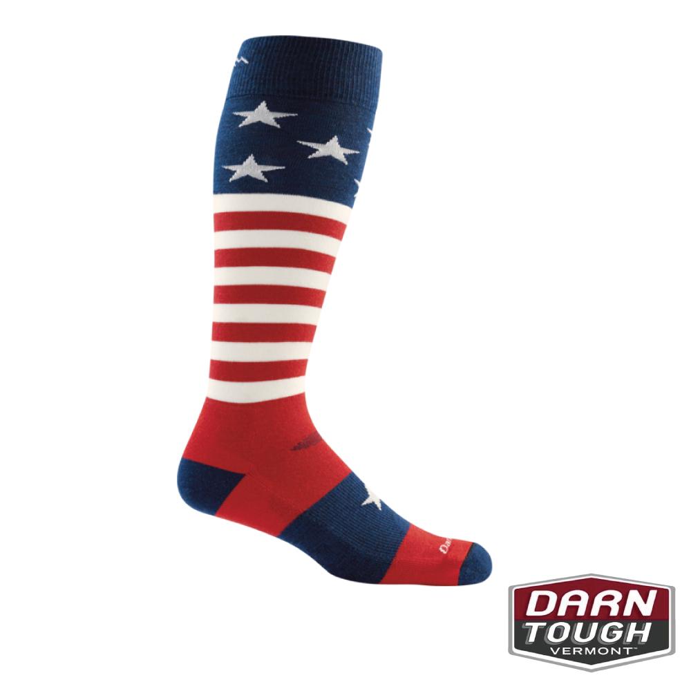 【美國DARN TOUGH】男羊毛襪Captain Stripe滑雪襪(隨機)