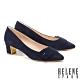 高跟鞋 HELENE SPARK 內斂時尚金屬點綴全真皮高跟鞋-藍 product thumbnail 1