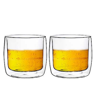 FUSHIMA富島 英倫系列雙層耐熱玻璃杯330ML*2入