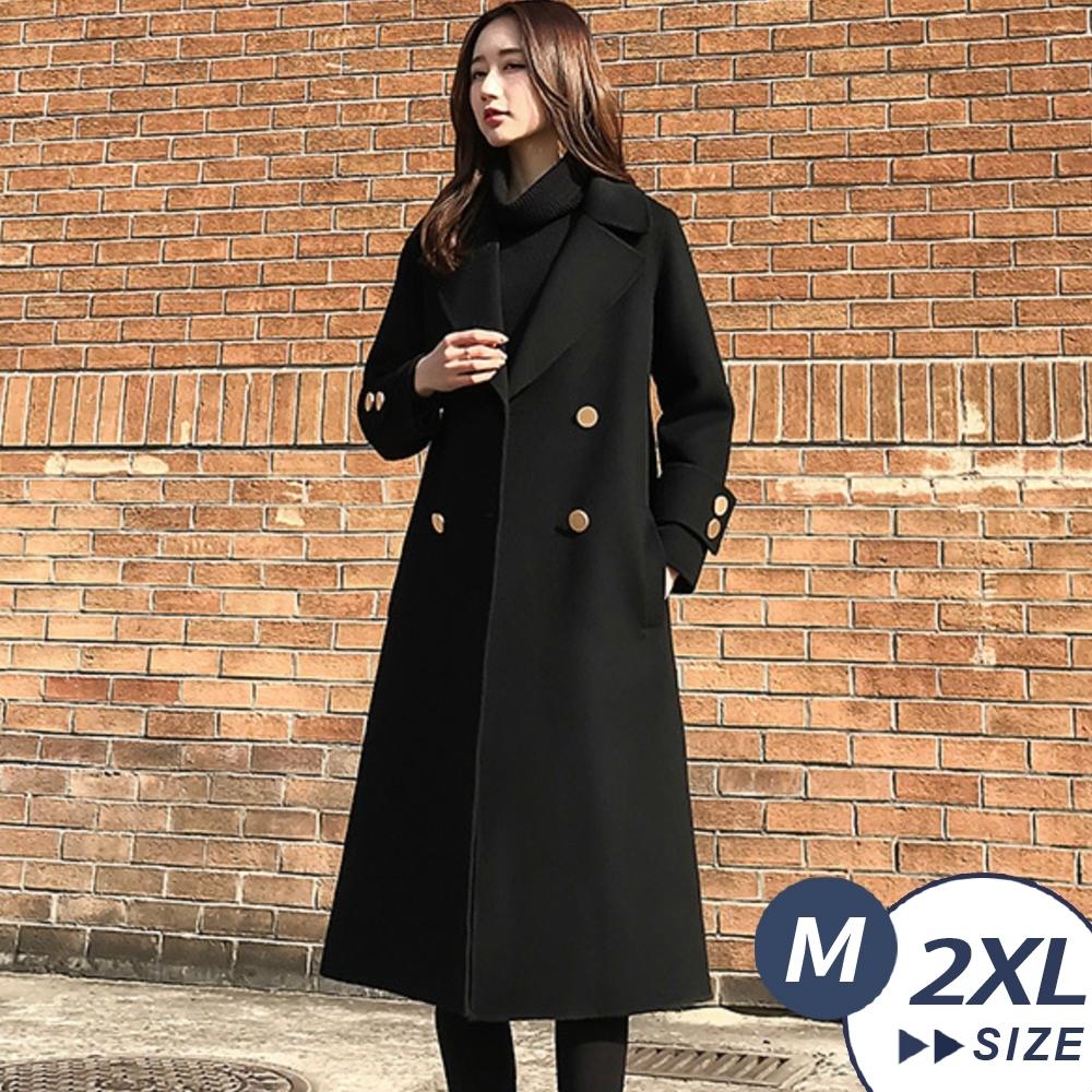 【LANNI 藍尼】現貨 超氣質赫本風毛呢大衣(西裝/毛呢/外套/大衣)