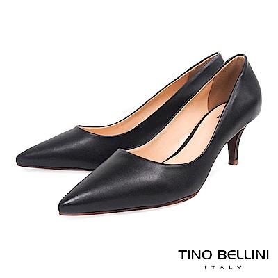 Tino Bellini 巴西進口優雅知性純色跟鞋 _ 黑