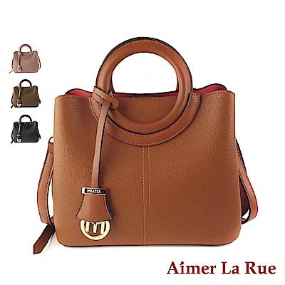 Aimer La Rue 坎佩爾圓形提把經典手提側背包(四色)