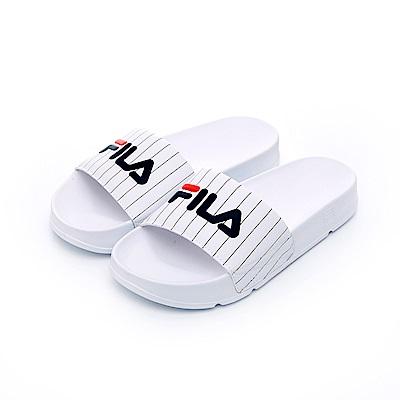 FILA 中性拖鞋-白 4-S634S-132