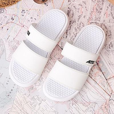 ATTA 雙帶百搭露趾拖鞋-白色