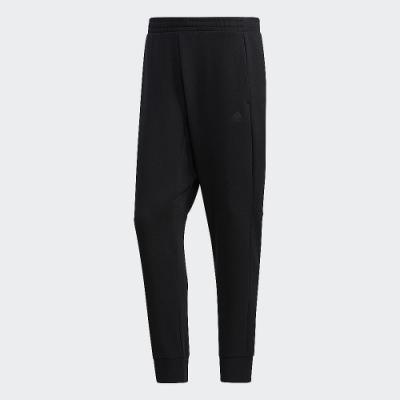 adidas 運動長褲 縮口褲 毛料 訓練 男款 黑 GM4475