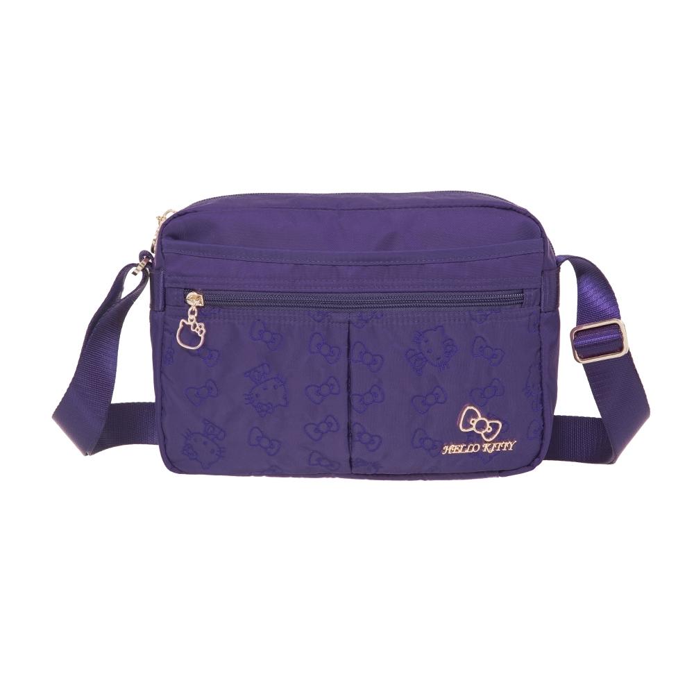 【Hello Kitty】快意之旅-側背包(小)-紫 KT01R04PL