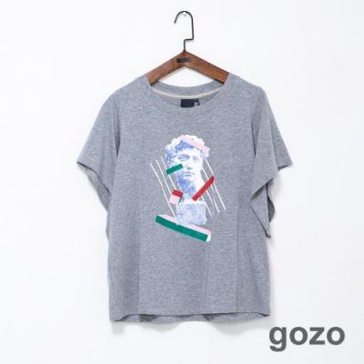 gozo 藝術雕像幾何印花造型T恤(二色)