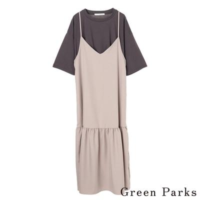 Green Parks 【SET ITEM】後綁帶吊帶裙+T恤上衣