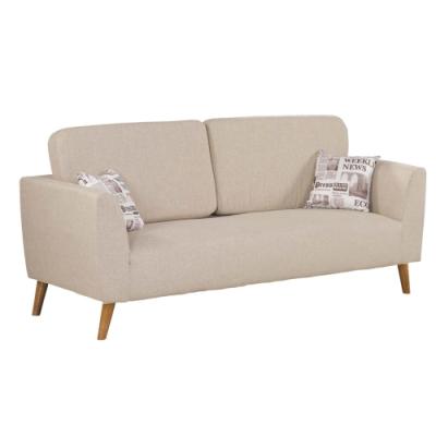 文創集 拉索時尚亞麻布三人座沙發椅-197x80x70cm免組