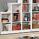 AS-娜拉白色開放3格書櫃-39x30x105cm
