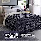 HOYACASA星鑽紫 4D雪貂絨親膚加大厚毛毯(加贈同款抱枕一入)