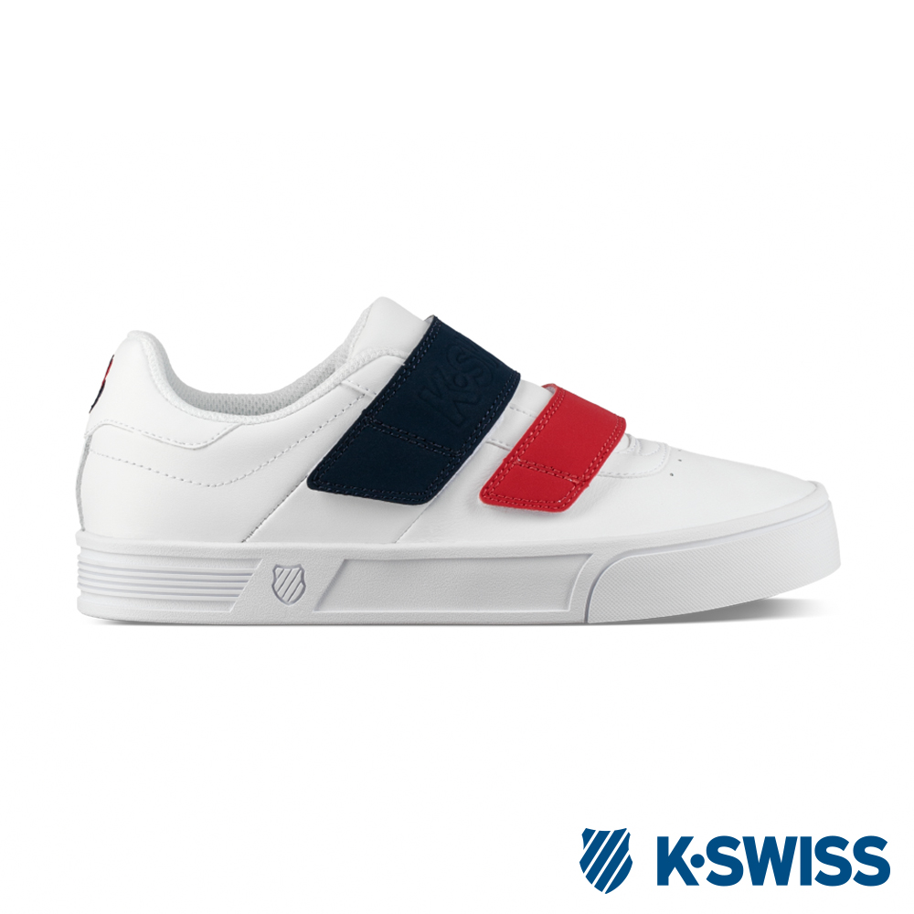 K-SWISS Court Lite Velcro休閒運動鞋-女-白/藍/紅