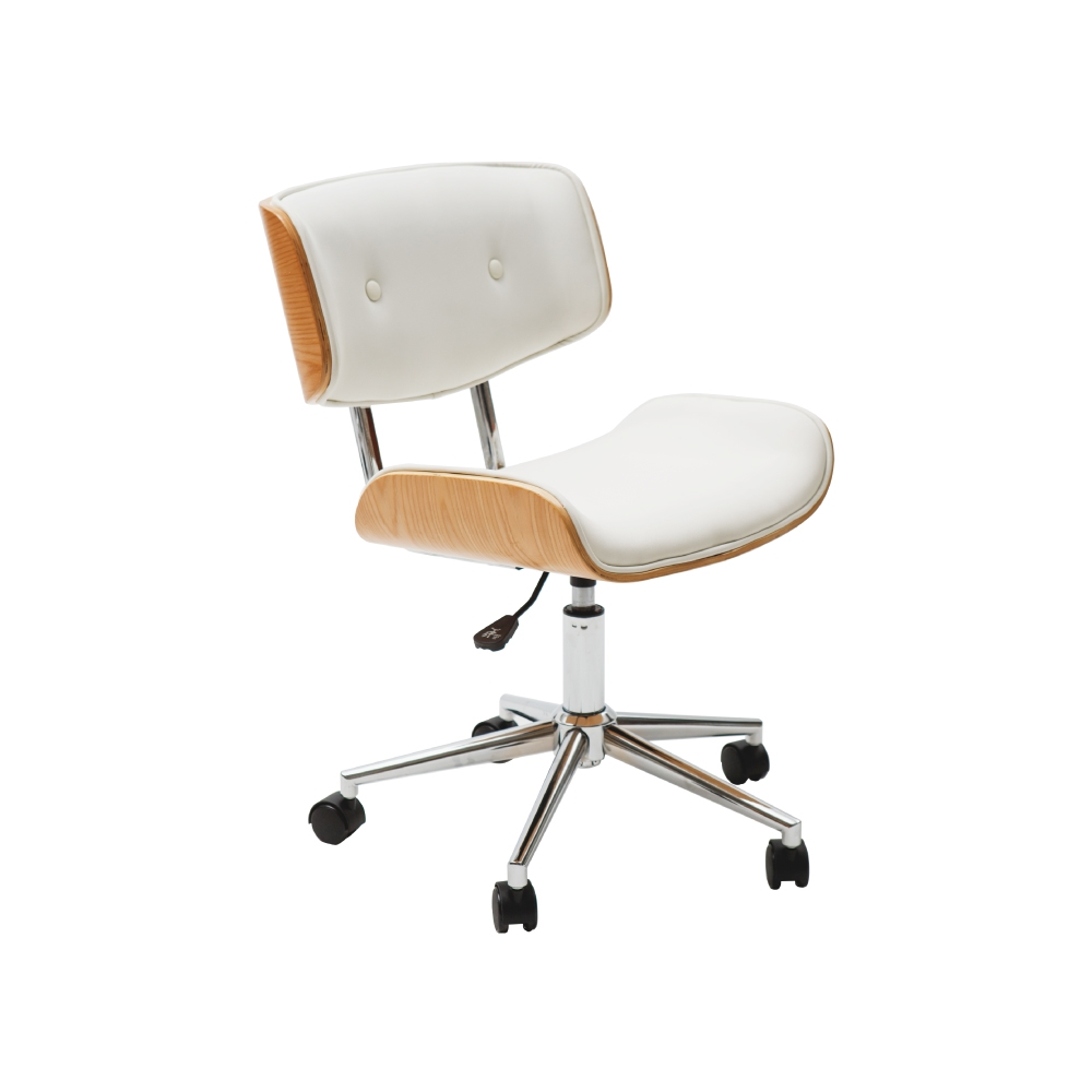 完美主義 設計款皮革木電腦椅/休閒椅/辦公椅/主管椅/餐椅(2色)