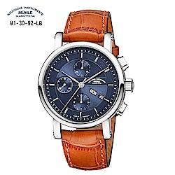 格拉蘇蒂-莫勒 Classical 經典系列-日耳曼時計 M1-30-92-LB 機械男錶