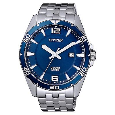 CITIZEN 星辰紳士典藏時尚手錶BI5058-52L-藍X銀/42mm
