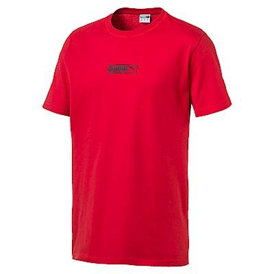 PUMA-男性流行系列No. 2 Logo短袖T恤-賽車紅-歐規
