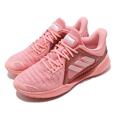 adidas 慢跑鞋 ClimaCool Vent 運動 女鞋 愛迪達 三線 路跑 涼感 透氣 穿搭 粉 EG1123